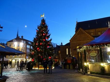 Die wunderschöne Altstadt Rigas zur Vorweihnachtszeit