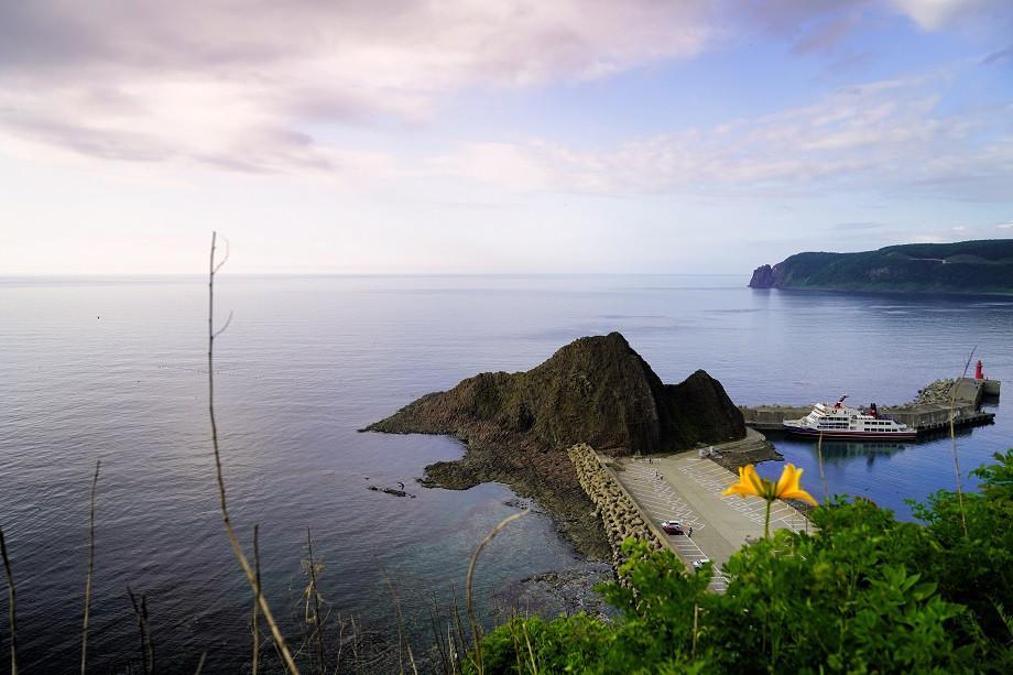 Blick auf die Bucht vor Utoro