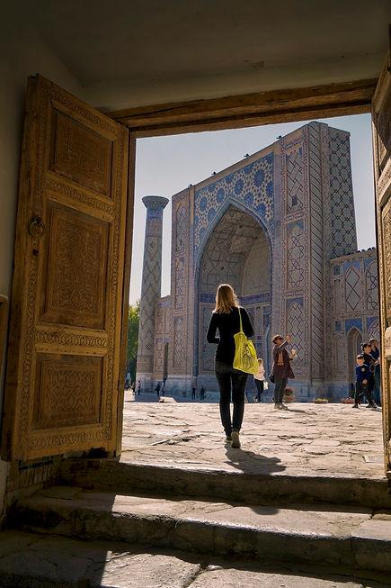 Blick auf den Registan Platz