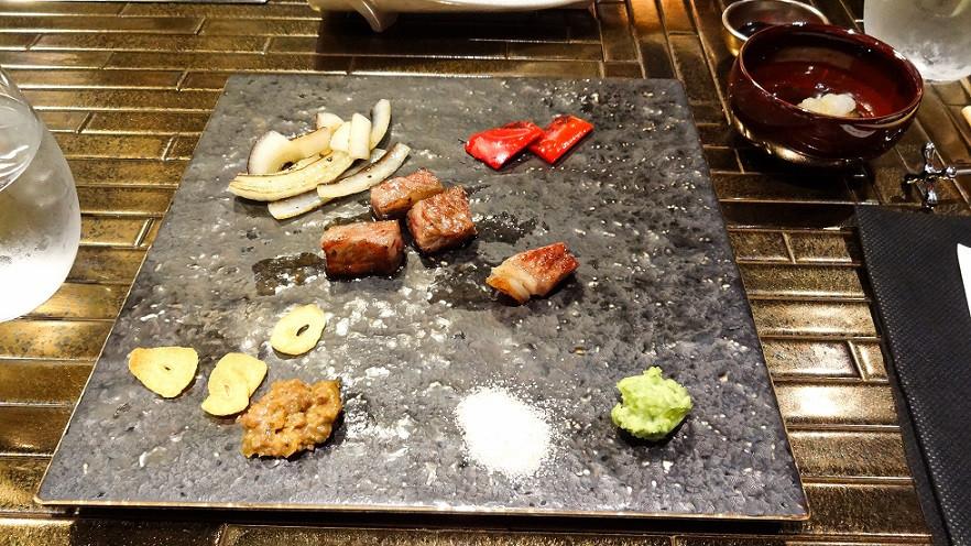 Erste Happen vom Kobe Rind