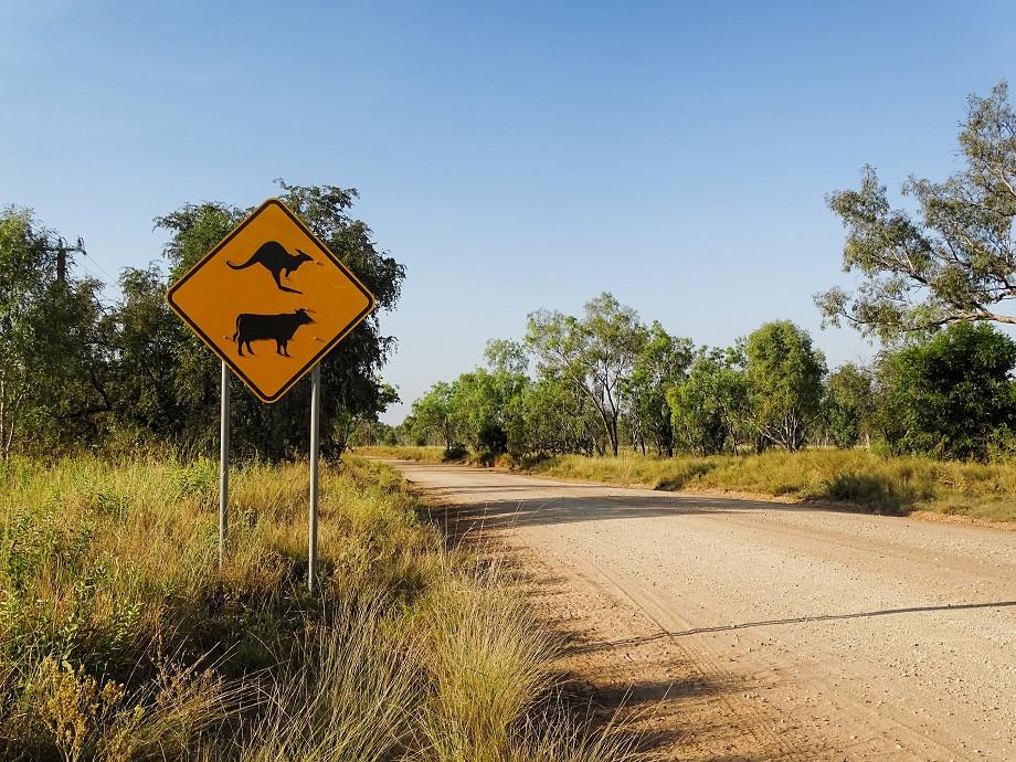 Strassenschild - Australien
