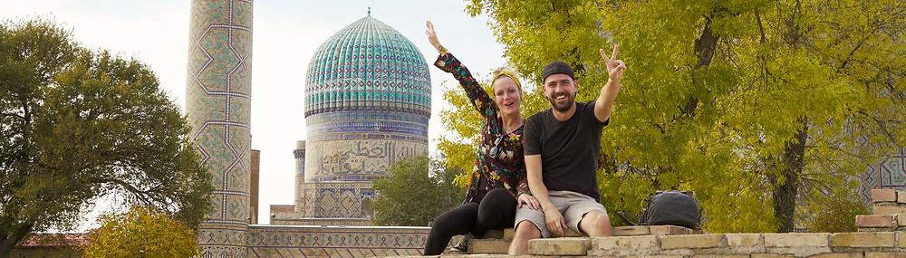 Kati und Hermann in Samarkand