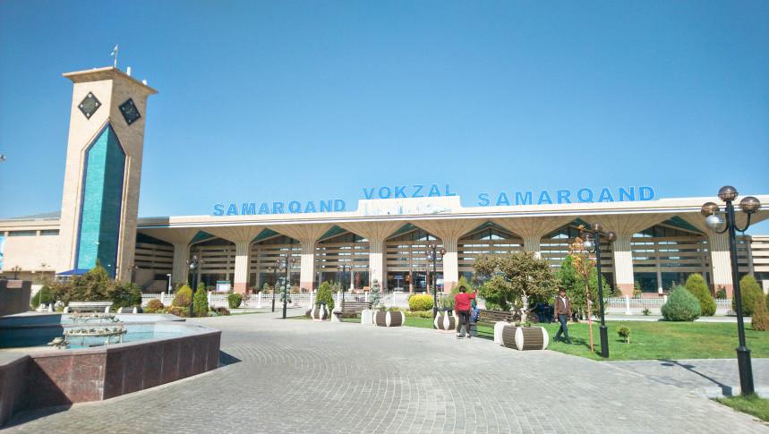 Bahnhof Samarkand - Usbekistan