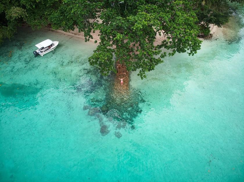 Drohnenaufnahme auf Palau
