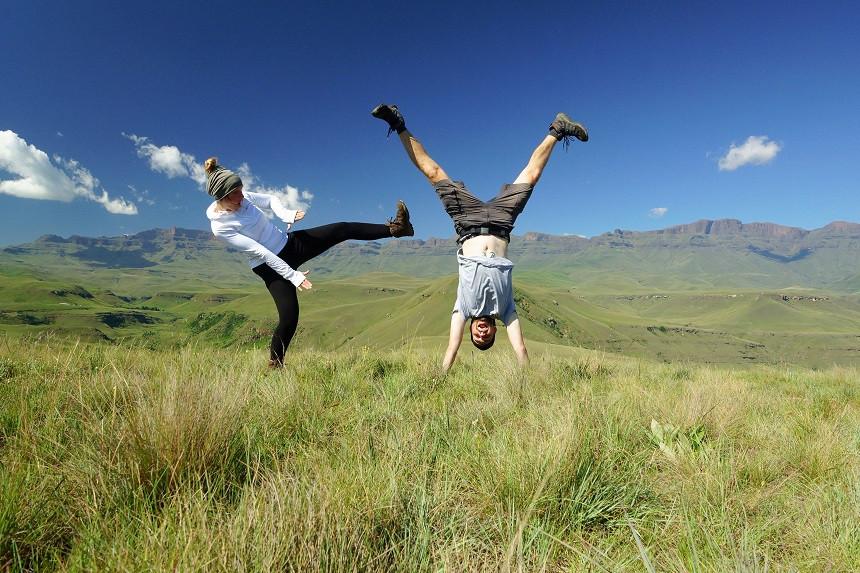 Drakensberge Südafrika - Spass auf Weltreise