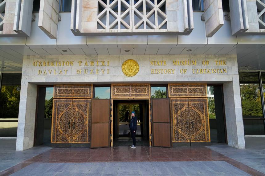 Eingang des Nationalhistorischen Museums von Usbekistan