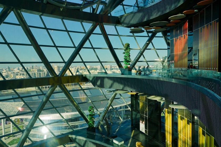Innenbereich des Nur Alem Pavillions - Astana
