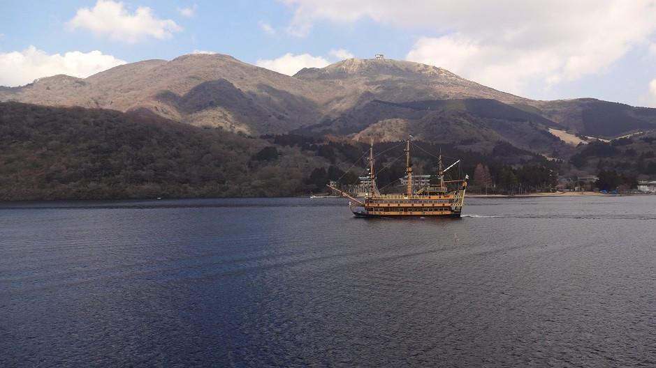 Piratenschiff auf dem Ashi See