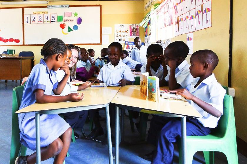 Grundschulklasse in Khumaga