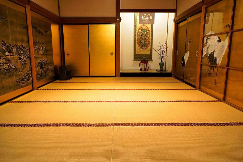 Raum im Ichijoin Tempel in Koya-San