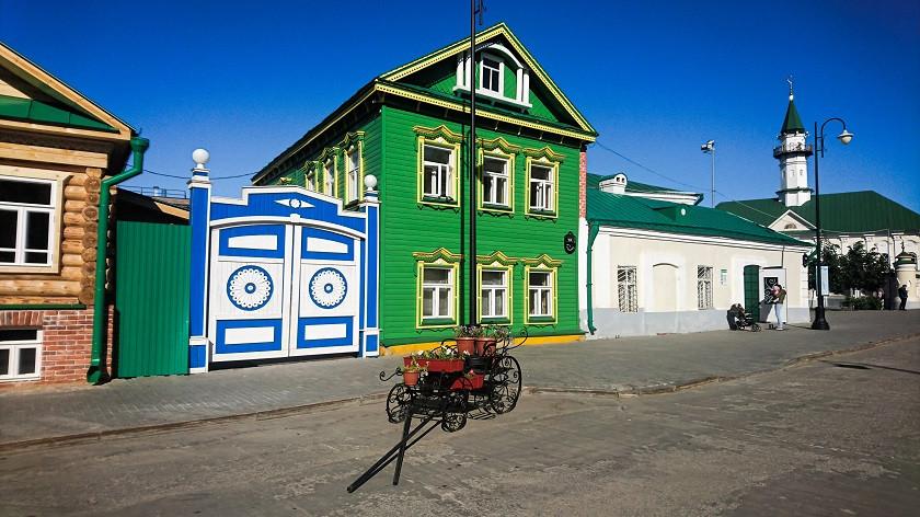 Traditionelle Häuser im Tatarenviertel - Kasan