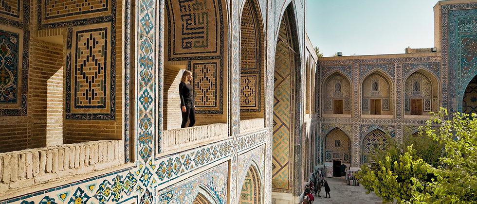 Orientalischer Balkon in Samarkand