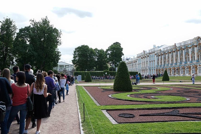 Warteschlange zum Katharinenpalast - Puschkin