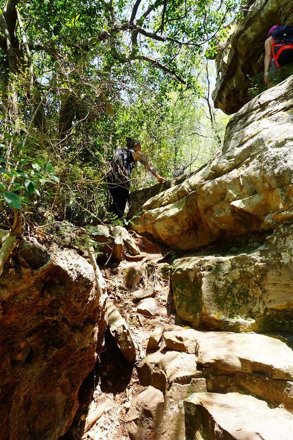 Steile Anstiege auf der Lorie Wanderung - Blyde River Canyon