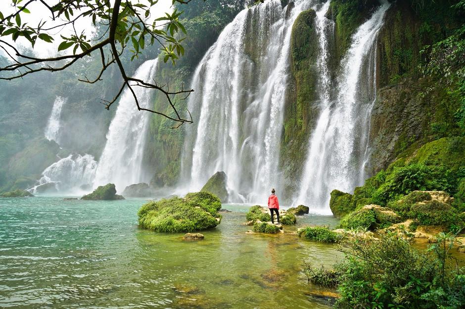 Kleiner Ban Gioc Wasserfall