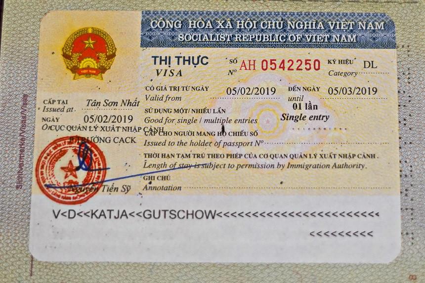 Vietnam Visum im Pass