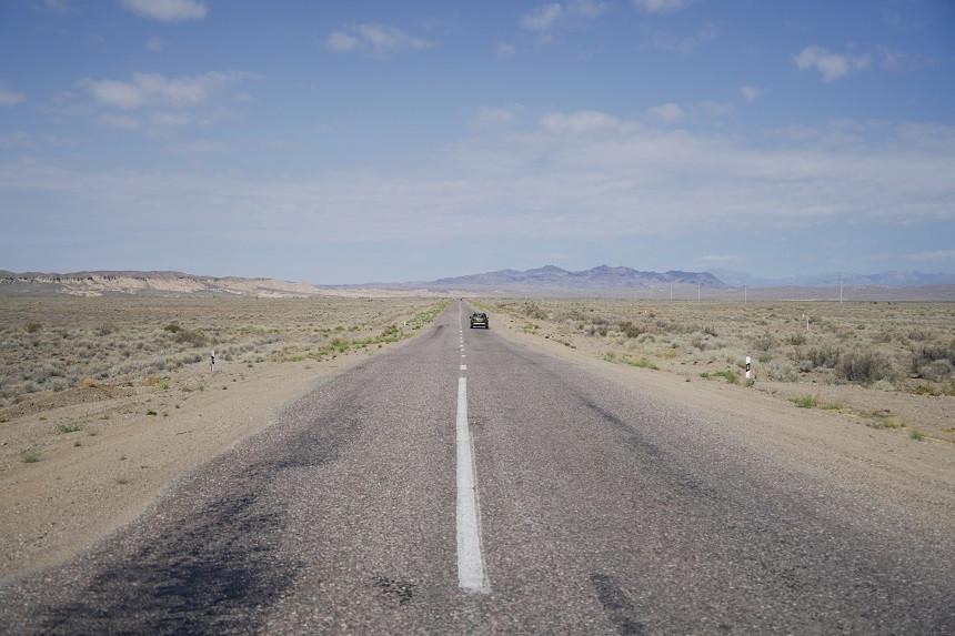 Landstrasse in Kasachstan