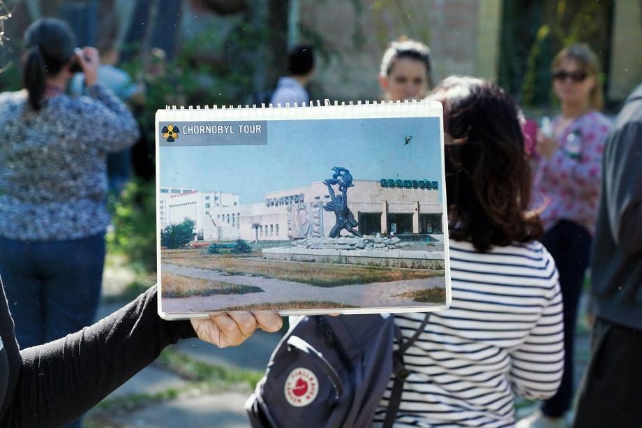 Viele Touristen auf der Tschenobyl Tour - Ukraine