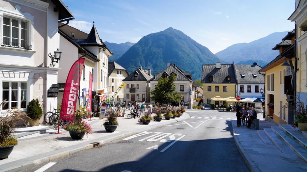 Ortszentrum von Bovec