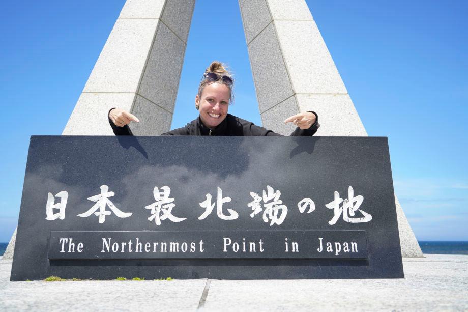 Kati am nördlichsten Punkt in Japan