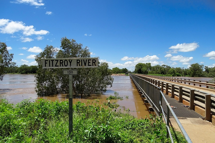 Fitzroy River Regenzeit - Fitzroy Crossing