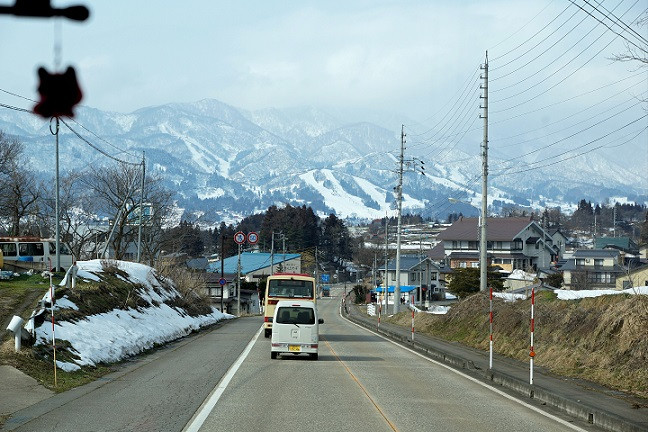 Busfahrt nach Nozawa Onsen