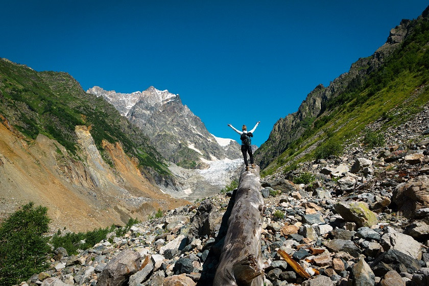 Wanderung zum Chalati Gletscher - Mestia Swanetien