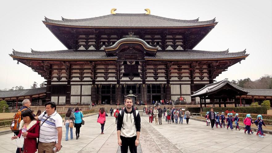 Hermann vor Todaiji-ji Tempel - Nara