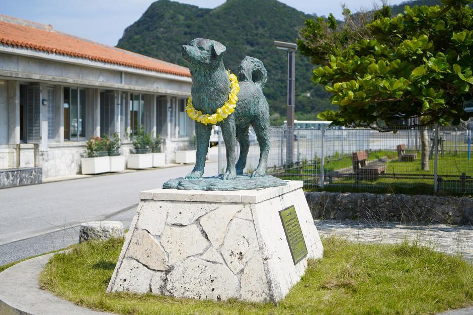 Statue von Hund Shiro