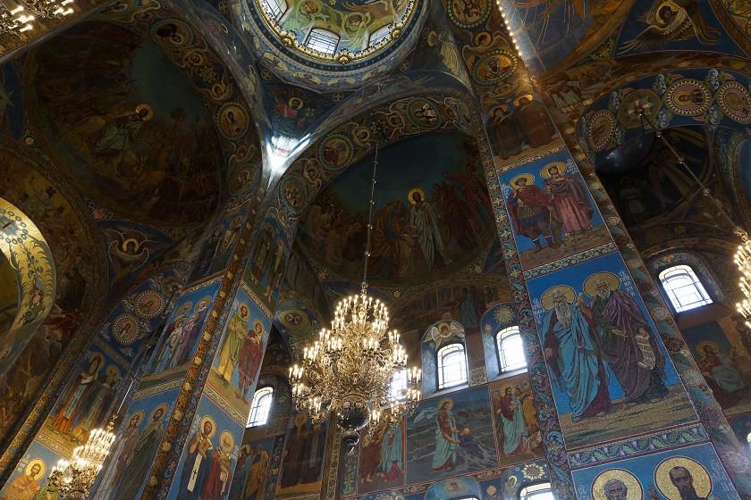 Mosaik Fresken in der Auferstehungskirche - Sankt Petersburg