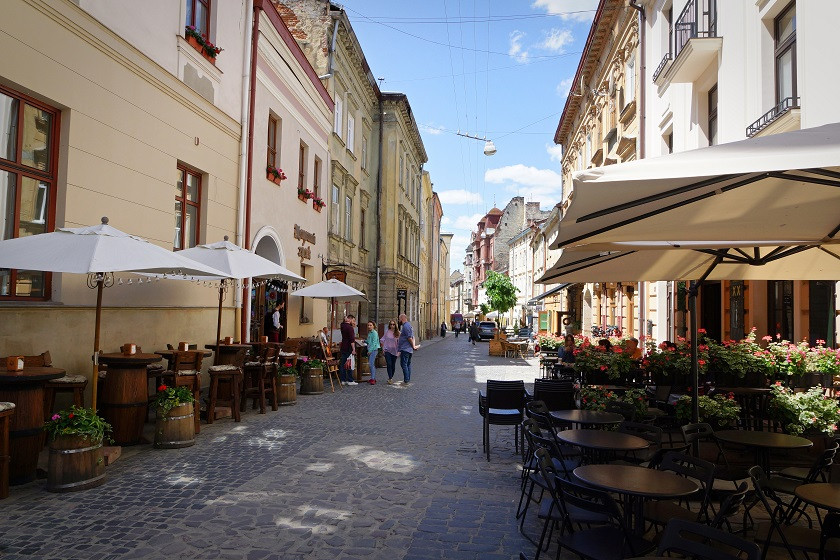 Cafés in der Lviver Altstadt