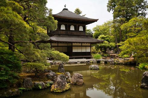 Silberner Pavillion Kyoto