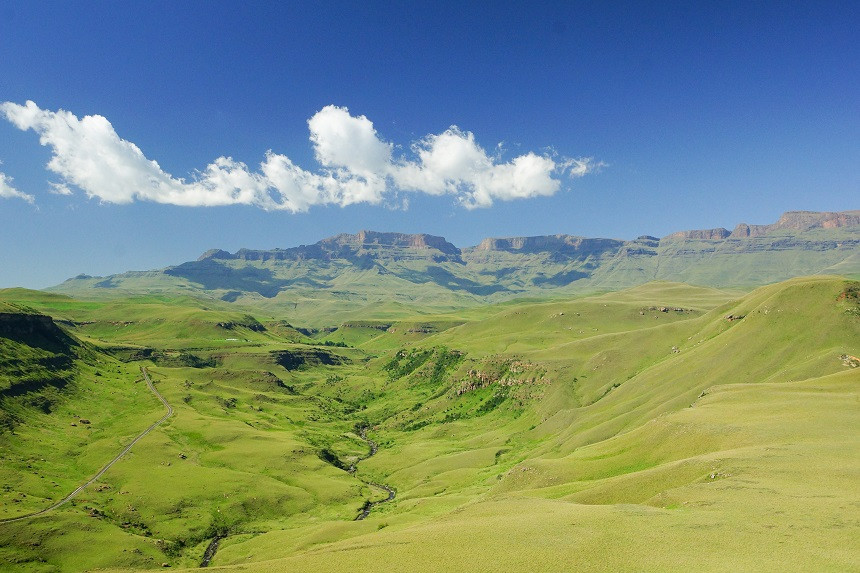 Atemberaubende Landschaft im Giant's Castle Game Reserve