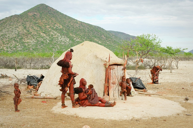 Traditonelles Himba Haus - Namibia