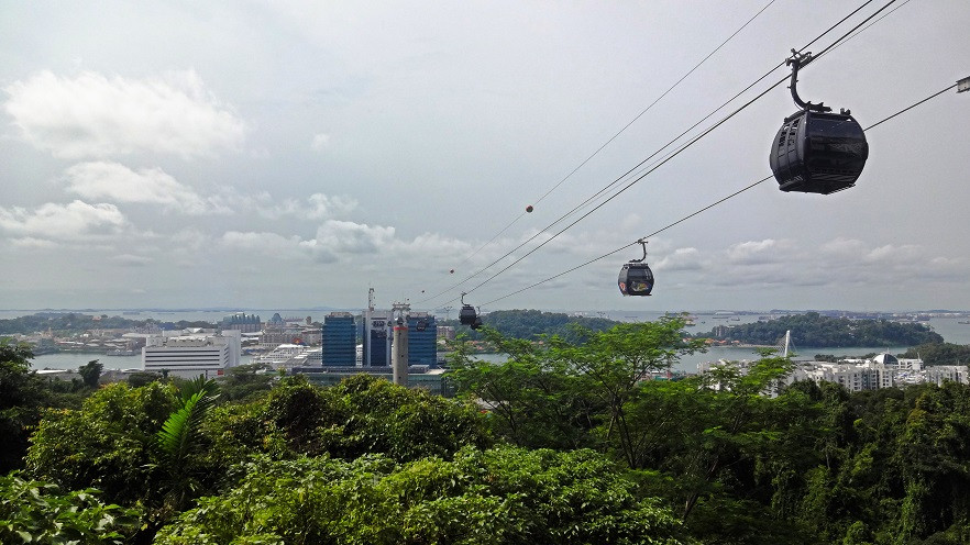Seilbahn nach Sentosa - Singapur