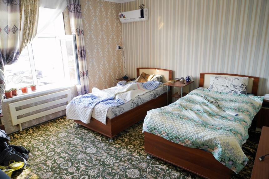 Einfache Unterkunft in Usbekistan