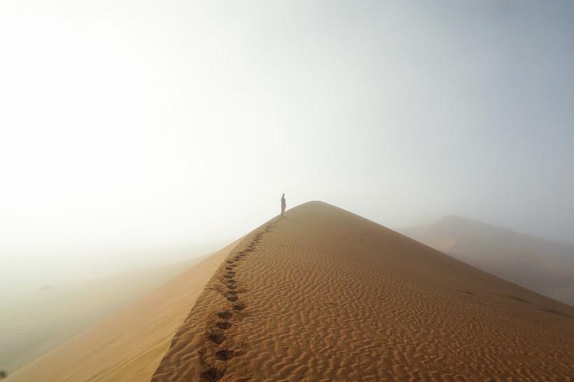 Sanddünen im Nebel - Sossusvlei Namibia