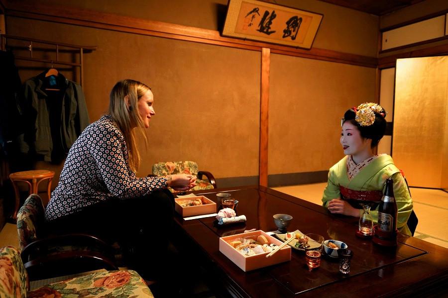 Privates Treffen mit einer Maiko in Kyoto