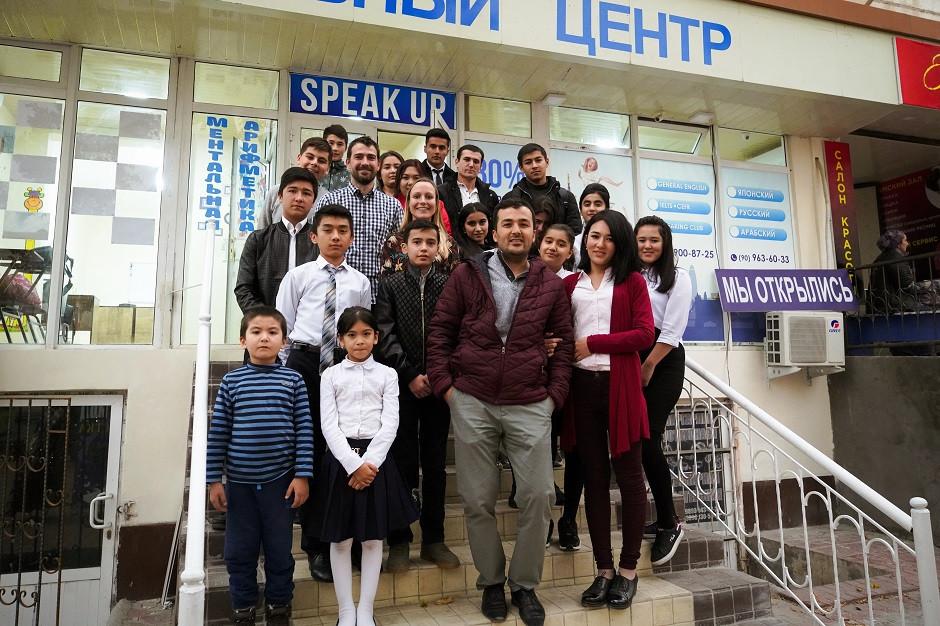 Schulgruppe unseres Couchsurfing Hosts in Taschkent