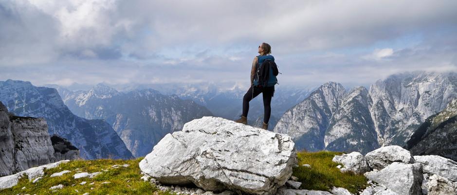 Ausblick auf die Slowenischen Alpen