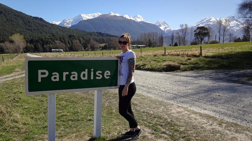 Paradise Ortsschild