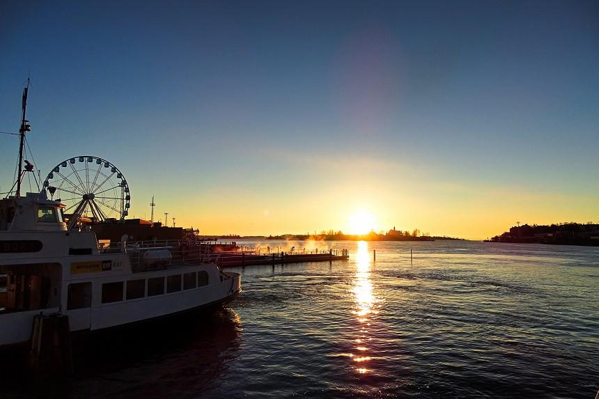 Sonnenaufgang in Helsinki