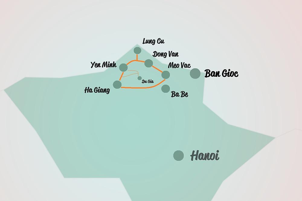 Infografik Ha Giang Loop Norden Vietnam