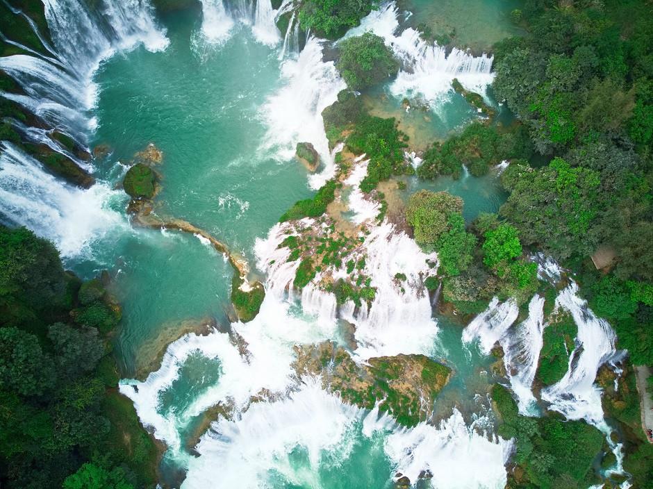 Wasserpools des Ban Gioc Wasserfalls