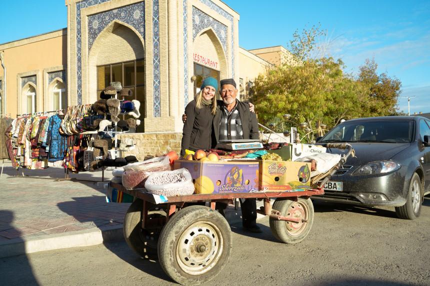 Strassenhändler in Bukhara