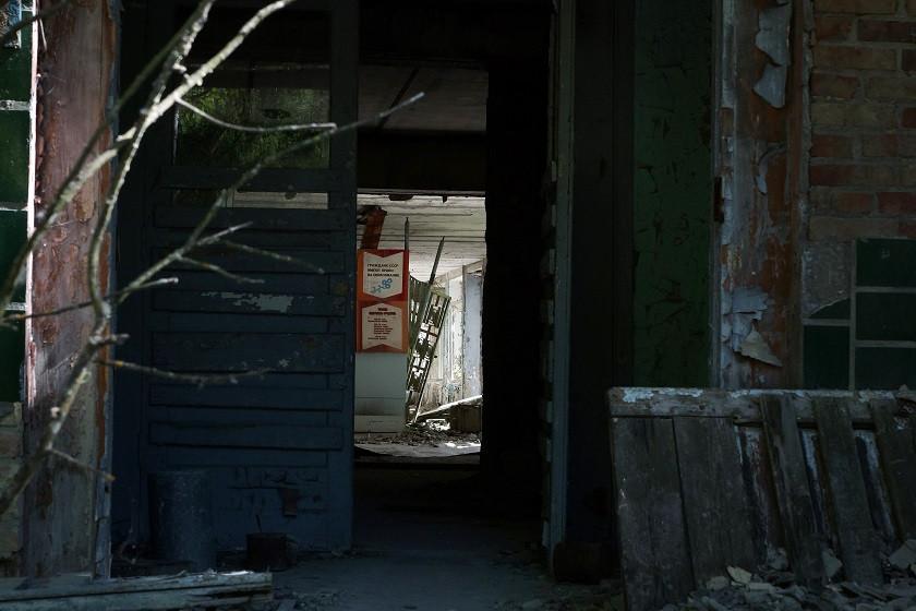 Zerstörtes Gebäude in Prybjat