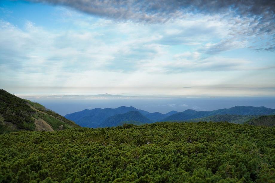 Ausblick vom höchsten Punkt des Shiretoko Passes