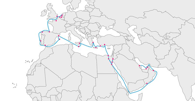 Kreuzfahrtschiff Route