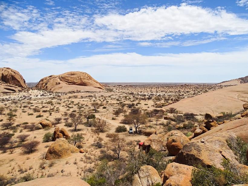 Spitzkoppe Rest Camp von oben - Namibia