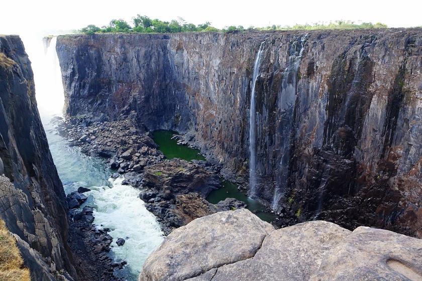 Blick in den Abgrund - Victoriafälle - Simbabwe